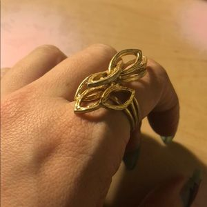 vintage gold art deco costume jewelry ring 7 8